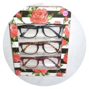 Betsey Johnson 2.00 Reading Glasses 3pk